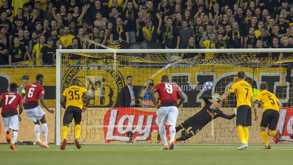 BERN, Switzerland   Pogba scores 2 in Man United's 3-0 win at Young Boys