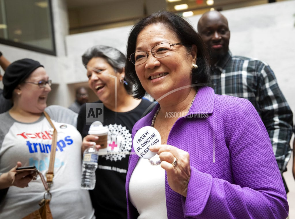 WASHINGTON | Telling men to 'step up,' Sen. Hirono strides into spotlight