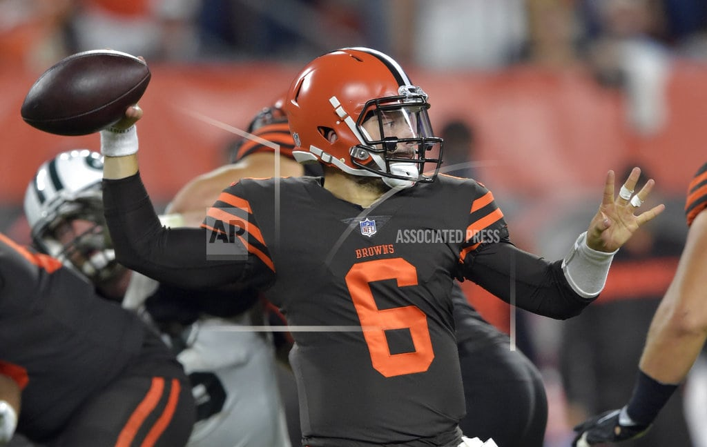 CLEVELAND | Browns rookie Baker Mayfield replaces Taylor in first half
