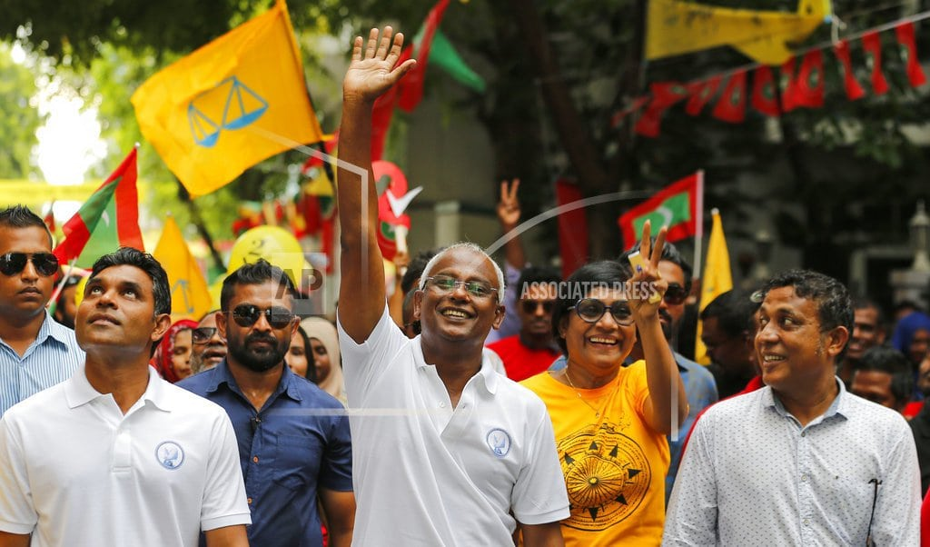 MALE, Maldives | The Latest: Official: Campaign office raided in bribery case