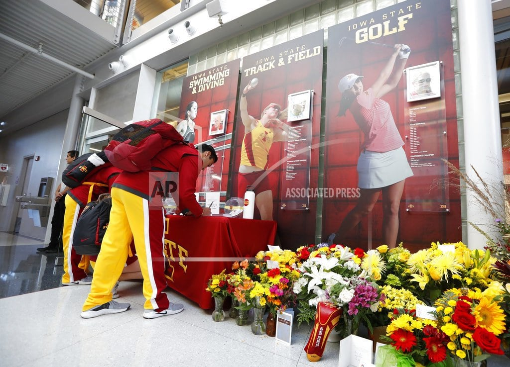 AMES, Iowa  | Iowa State honors slain golfer before Akron game