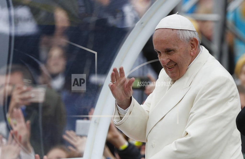 VILNIUS, Lithuania | Pope battered by abuse scandal gets warm welcome in Baltics