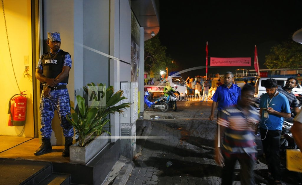 MALE, Maldives  | Maldives police raid opposition on eve of election