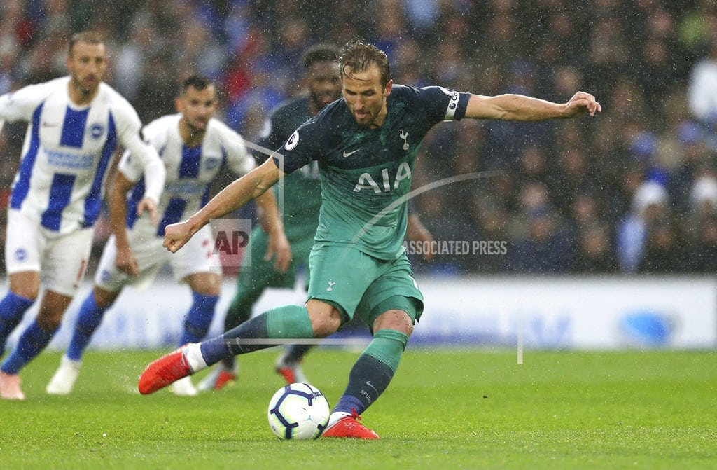 BRIGHTON, England | Kane ends 5-game scoring slump as Spurs beat Brighton 2-1