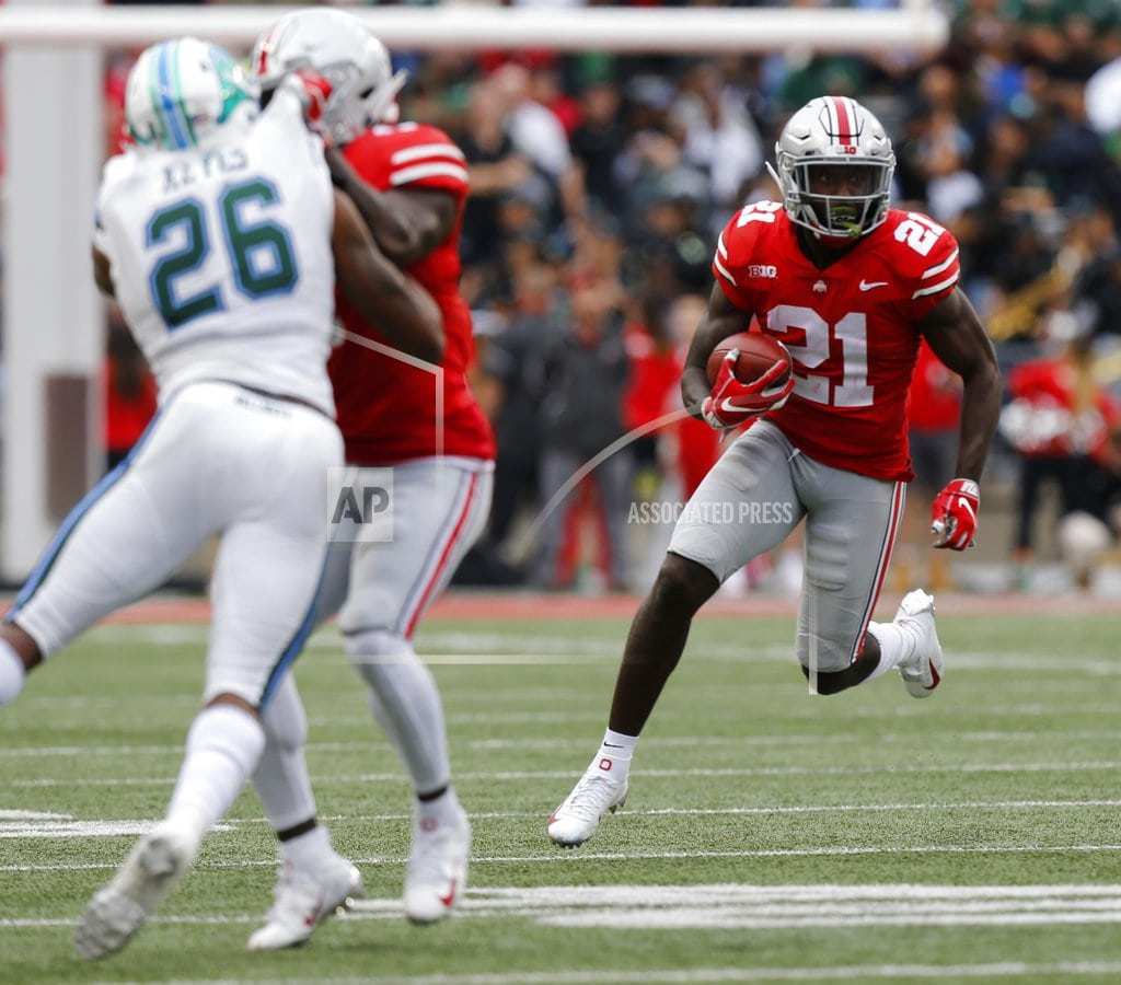 COLUMBUS, Ohio | No. 4 Ohio State routs Tulane in Meyer's return to sideline