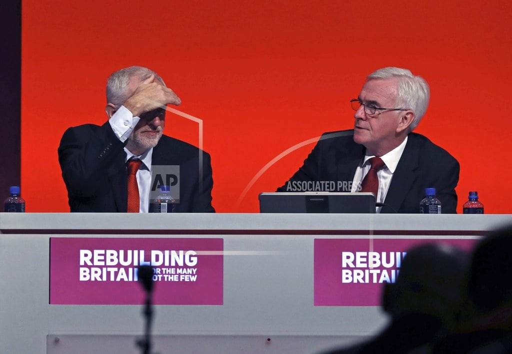 LONDON | UK's Labour opposition says it will reject May's Brexit deal