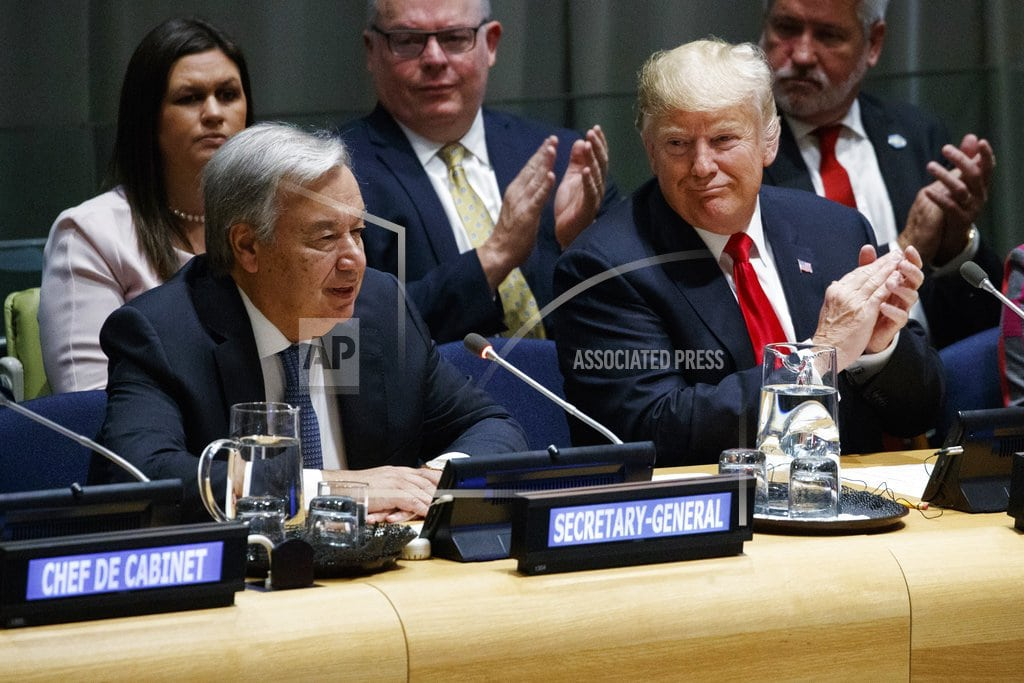 UNITED NATIONS   The Latest: UN chief: 'Pivotal moment' for fighting warming