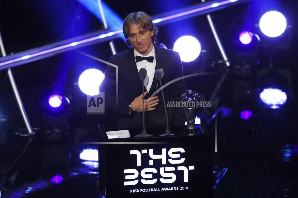 LONDON | Modric wins world player of year, ends Ronaldo-Messi duopoly