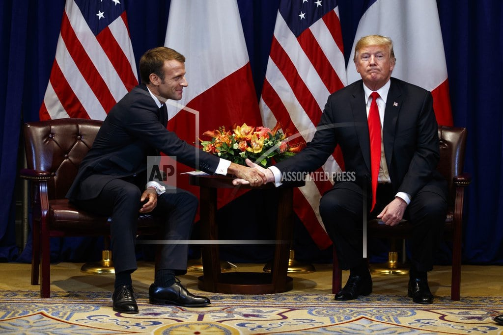 The Latest: Trump cites 'very good experiences' with France