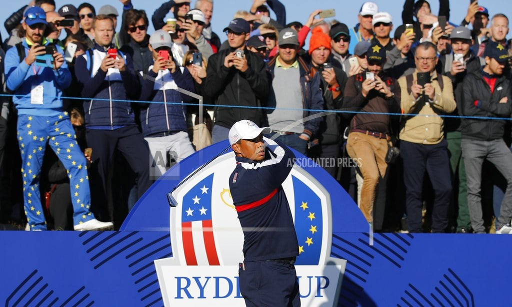 SAINT-QUENTIN-EN-YVELINES, France   The Latest: Mickelson welcome another pairing with Tiger