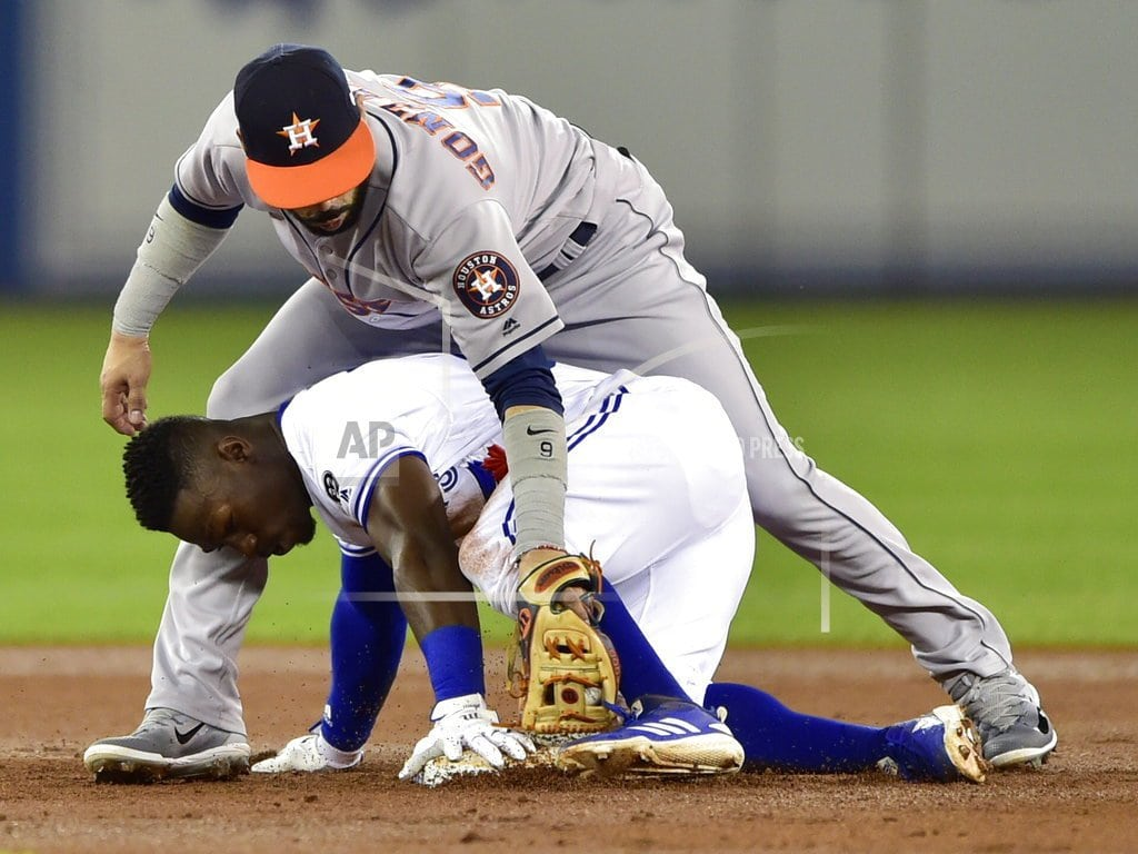TORONTO   Astros clinch 2nd straight AL West title, win 100th
