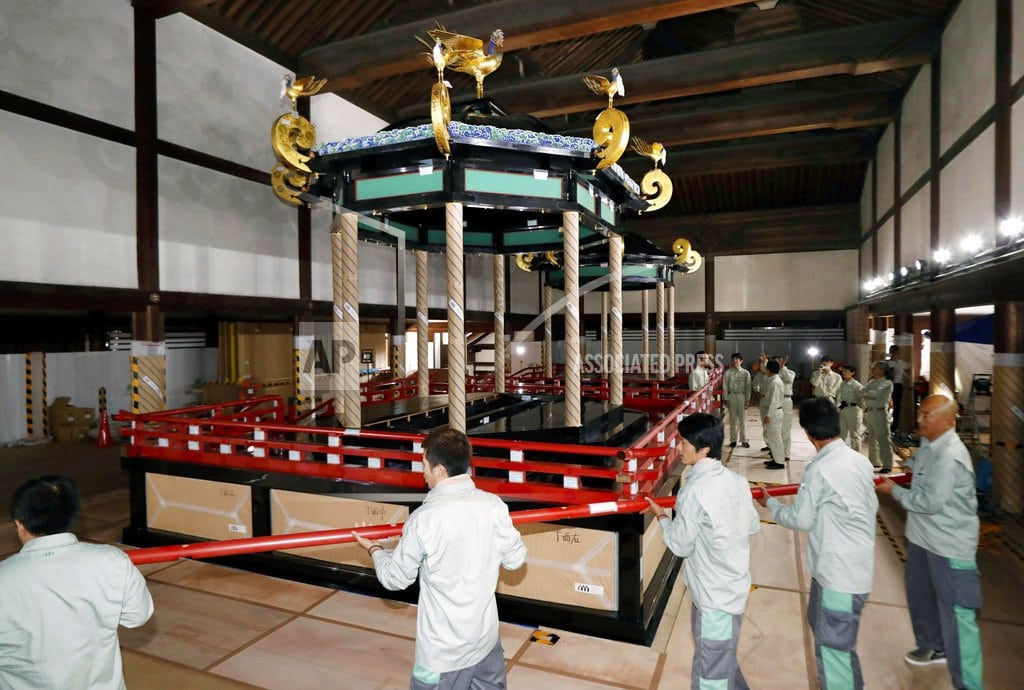 TOKYO| Special throne for Japan's next emperor arrives in Tokyo
