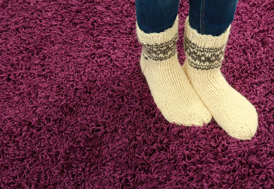 To Save your Carpet, Socks are Best