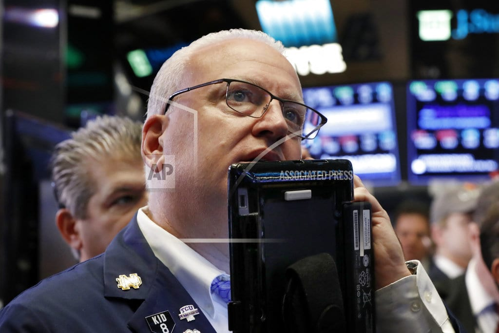 NEW YORK | Stocks surge, recovering some recent losses; Dow climbs 547
