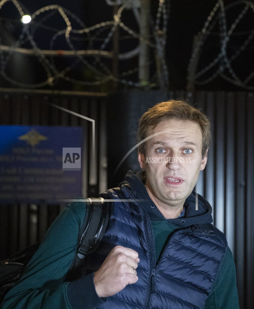 MOSCOW   Navalny accepts National Guard challenge to a verbal 'duel'