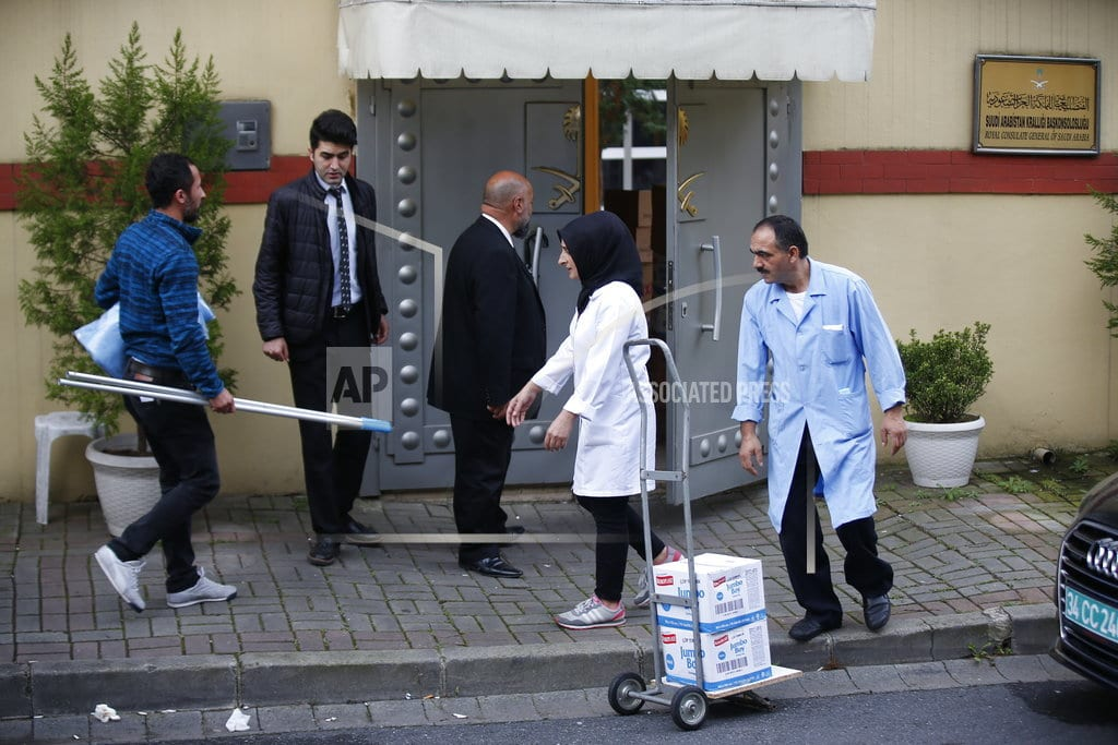 ISTANBUL | The Latest: Pompeo lands in Saudi Arabia to meet with king