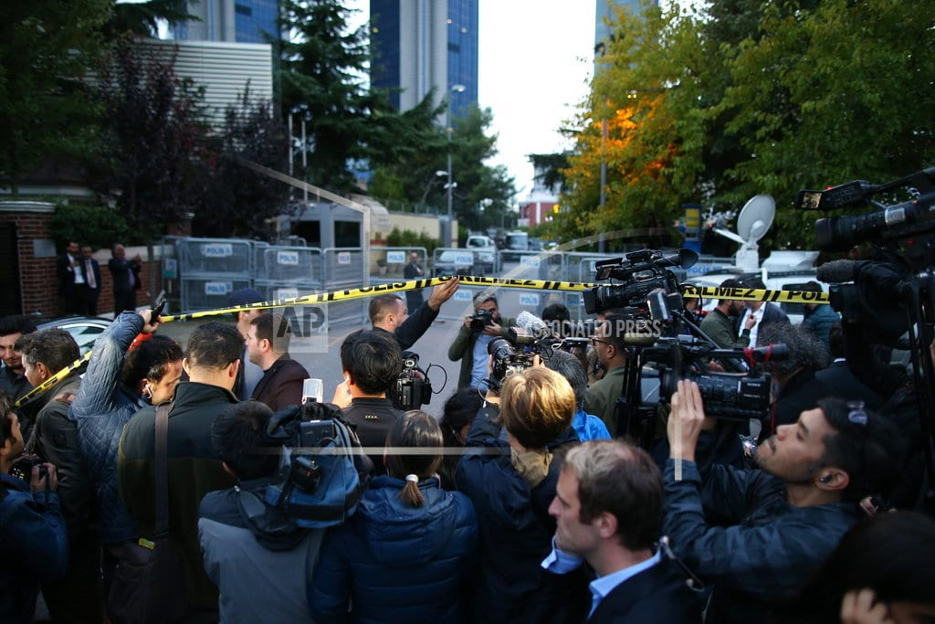 ISTANBUL   Forensics team searches Saudi Consulate over missing writer