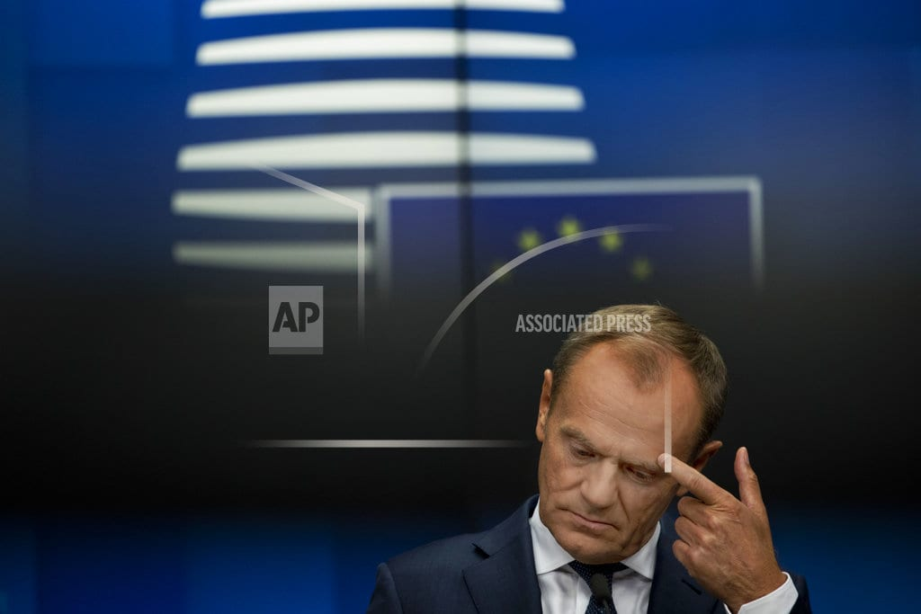 LUXEMBOURG  | The Latest: Tusk says new thinking required in Brexit talks