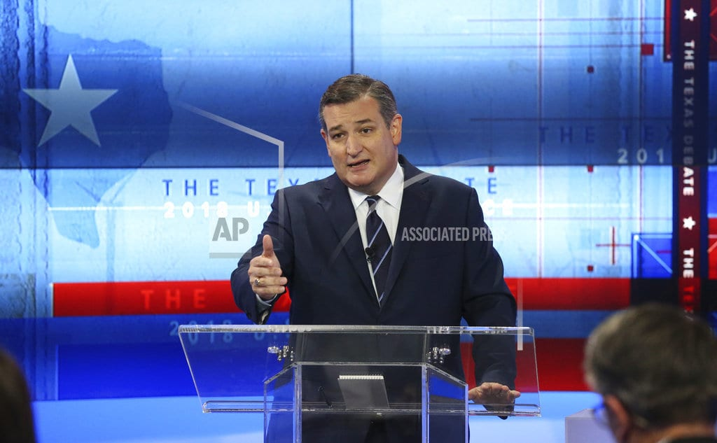AP FACT CHECK: Cruz, O'Rourke claims cite taxes, immigration