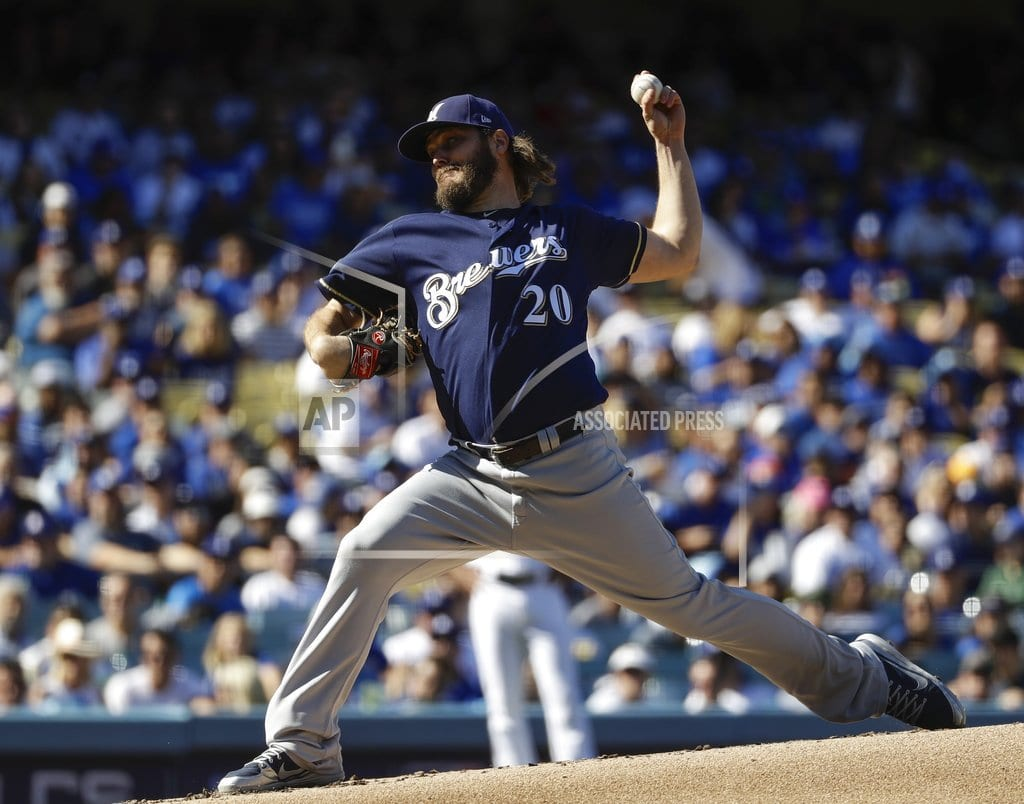 LOS ANGELES | Brewers pull Wade Miley after 1 batter in Game 5 subterfuge