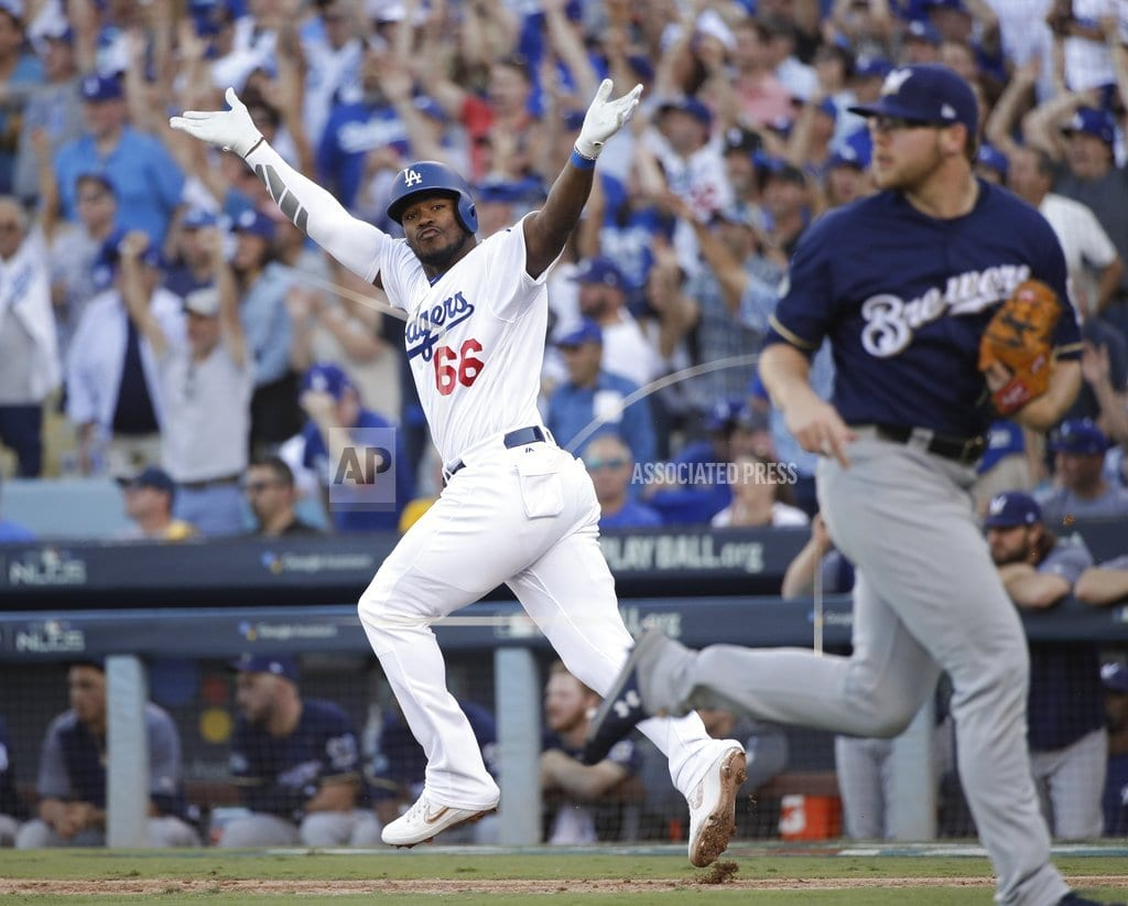 LOS ANGELES| Kershaw dominant, Dodgers beat Brewers 5-2, lead NLCS 3-2