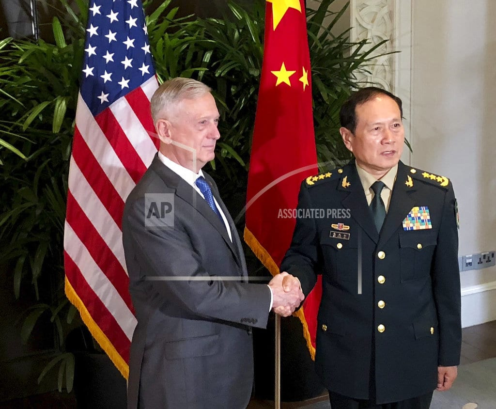 SINGAPORE | Mattis meets his Chinese counterpart, but no new agreements