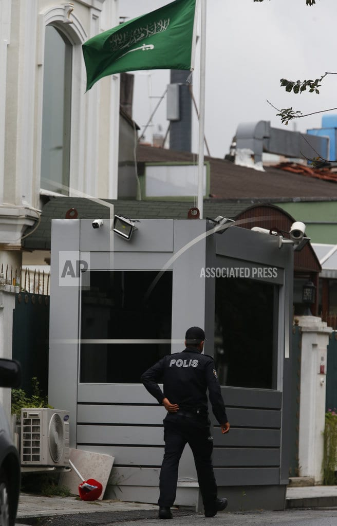 ISTANBUL | Turkey probes whether Khashoggi remains taken from consulate