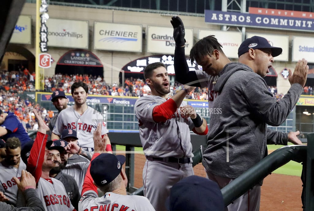 HOUSTON   Red Sox finish off Astros in 5 games, head to World Series