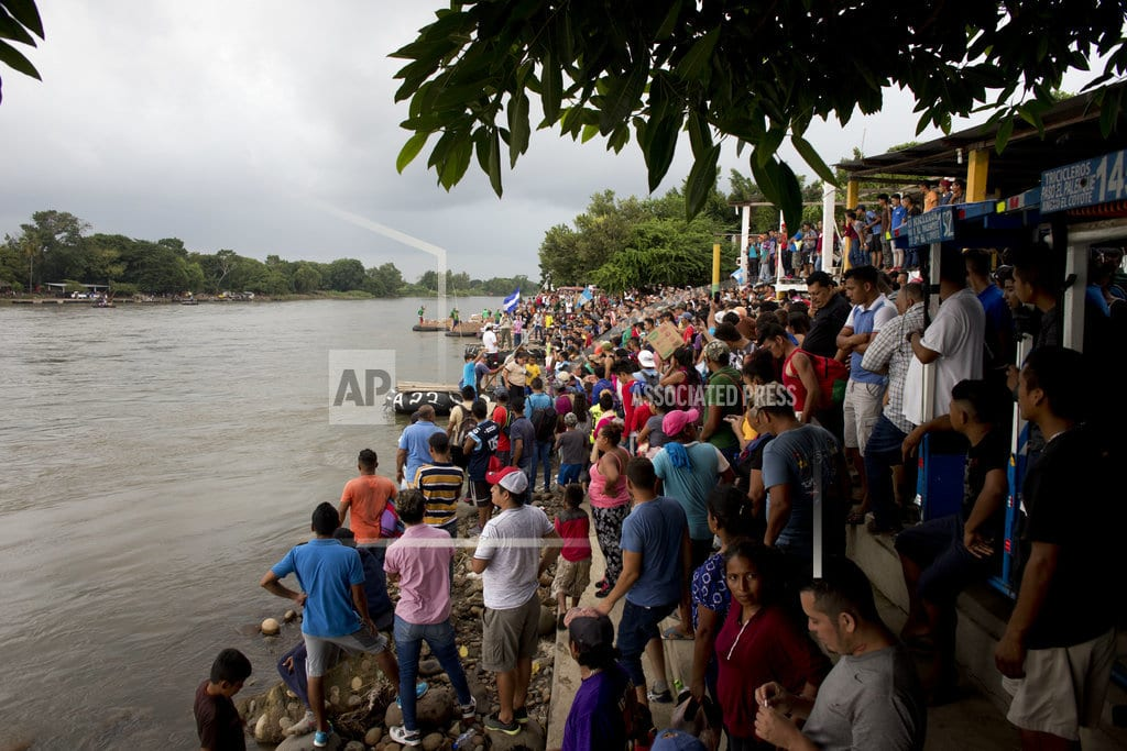 TECUN UMAN, Guatemala | The Latest: Migrants clash with Mexican police at border