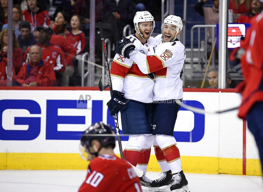 WASHINGTON | Huberdeau, Panthers beat Capitals for first win of season