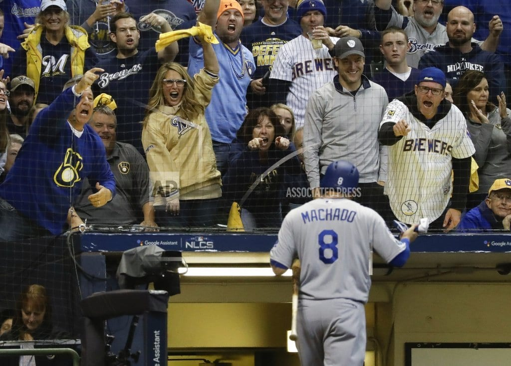 MILWAUKEE| Aguilar, Brewers beat Dodgers 7-2, send NLCS to Game 7