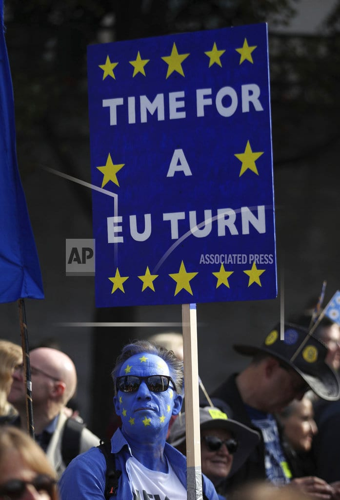LONDON | The Latest: 'Over half a million' march for new Brexit vote