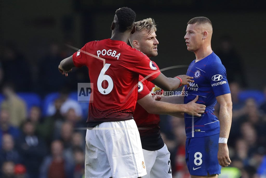 LONDON | Mourinho melee as United concedes late, draws 2-2 at Chelsea