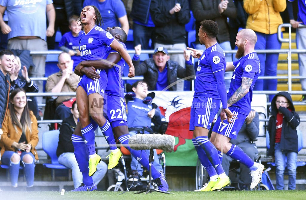 CARDIFF, Wales | Cardiff beats Fulham 4-2 for first EPL win, moves off bottom