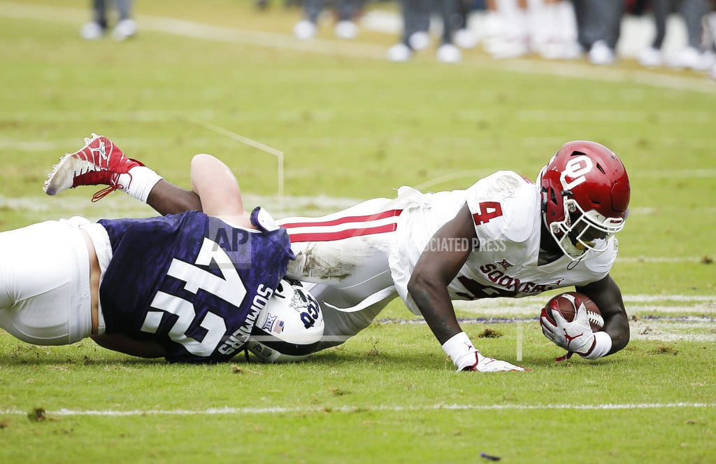 FORT WORTH, Texas | No. 9 Oklahoma rebounds from only loss with 52-27 win at TCU