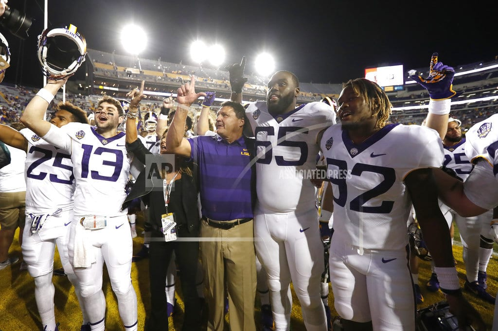 NEW ORLEANS | LSU's Orgeron hopes coaches demand change to targeting rule