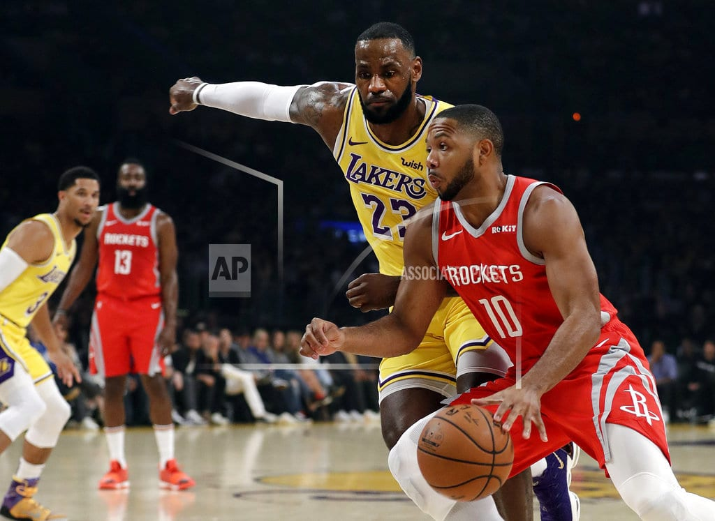 LOS ANGELES | Fight in LeBron's home Lakers debut, 124-115 loss to Houston