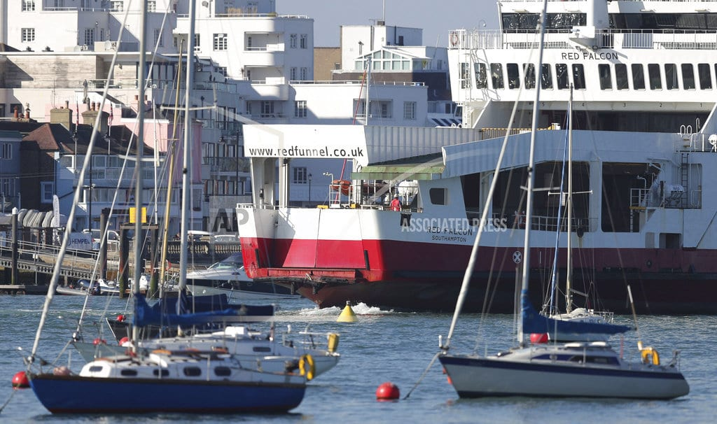 LONDON| Ferry collides with yachts, runs aground near Isle of Wight