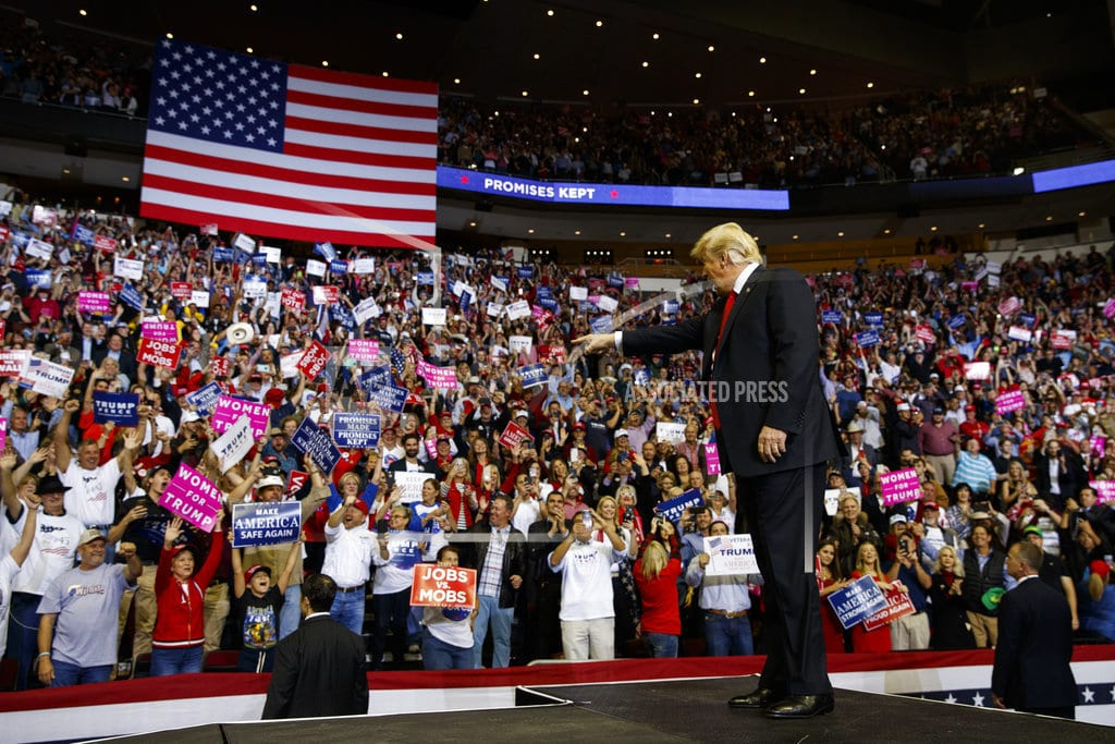 HOUSTON | Trump projects midterm optimism while stumping for Sen. Cruz