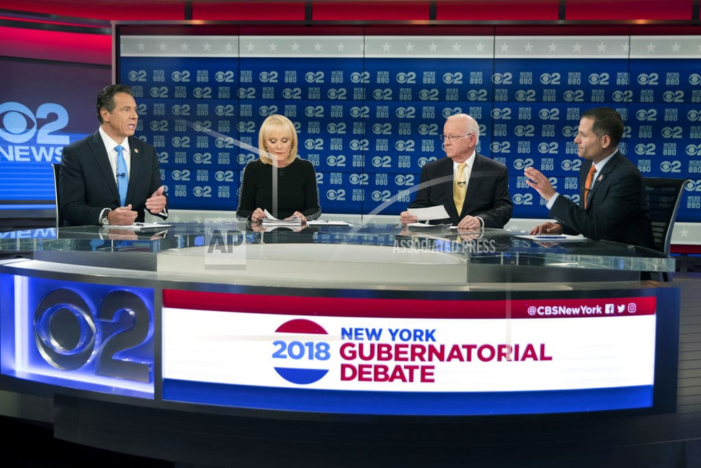 NEW YORK | Candidates for NY governor spar in their only planned debate