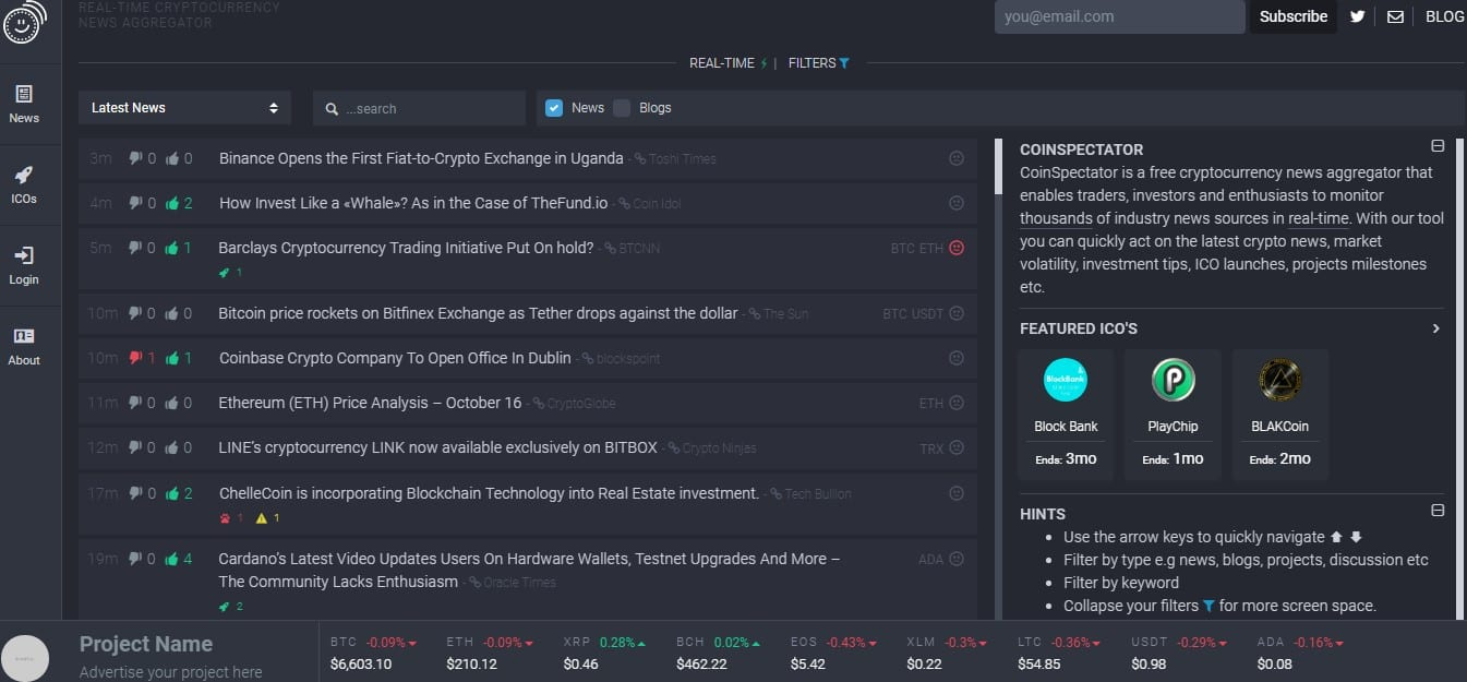 What Makes CoinSpectator the Leading Real-Time Cryptocurrency News Aggregator?