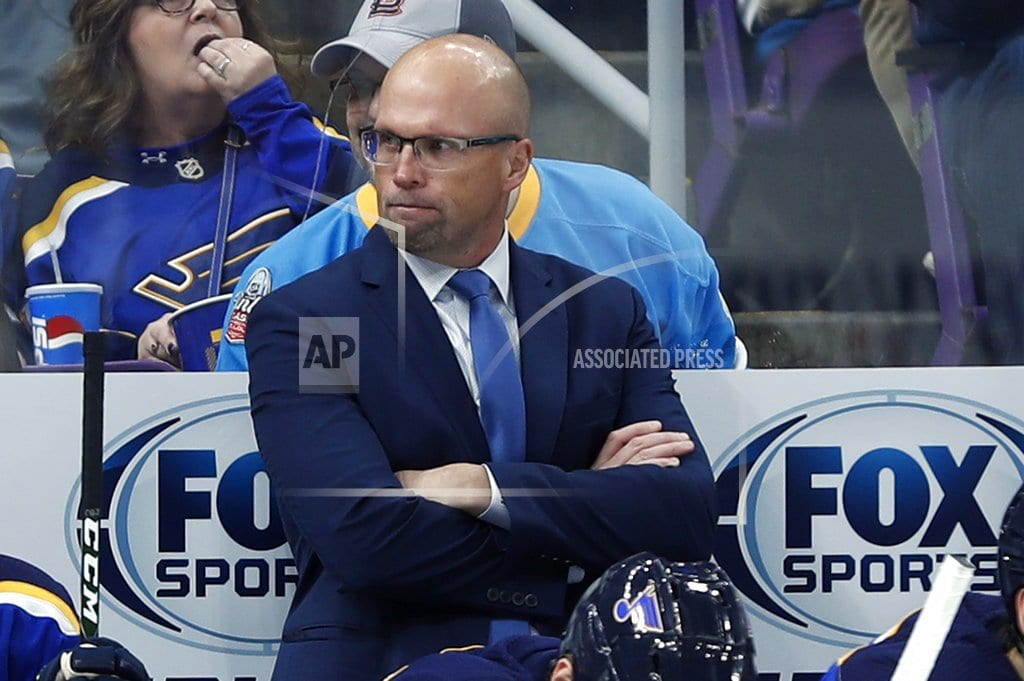 ST. LOUIS  | Blues fire coach Mike Yeo, name Craig Berube as interim