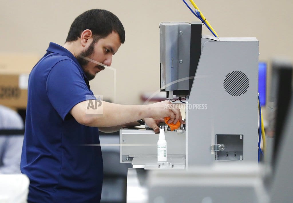 FORT LAUDERDALE, Fla   The Latest: Boxes used for office supplies, not ballots