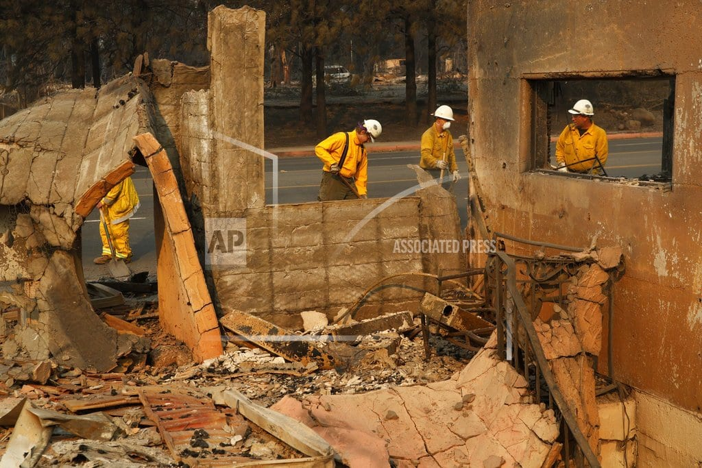 PARADISE, Calif. | The Latest: Death toll in N California wildfire jumps to 42