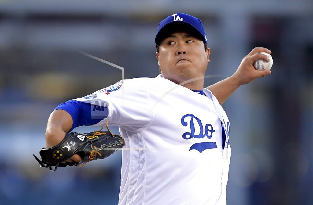 NEW YORK | Dodgers' Ryu only player to accept $17.9M qualifying offer