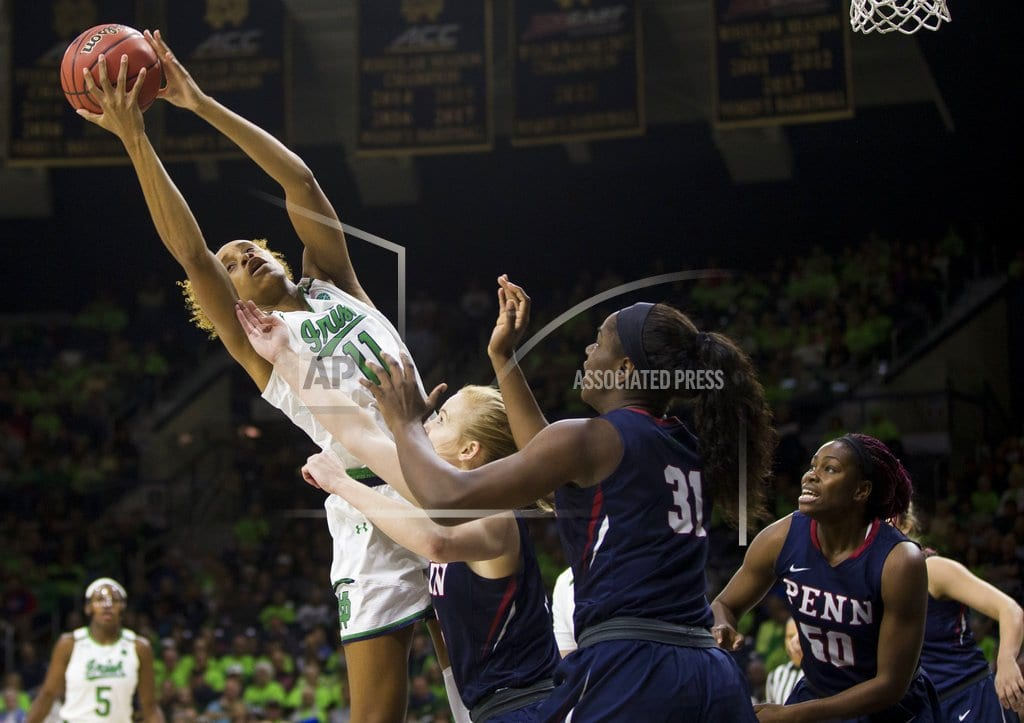 SOUTH BEND, Ind. | No. 1 Irish start slow, finish fast in beating Penn 75-55
