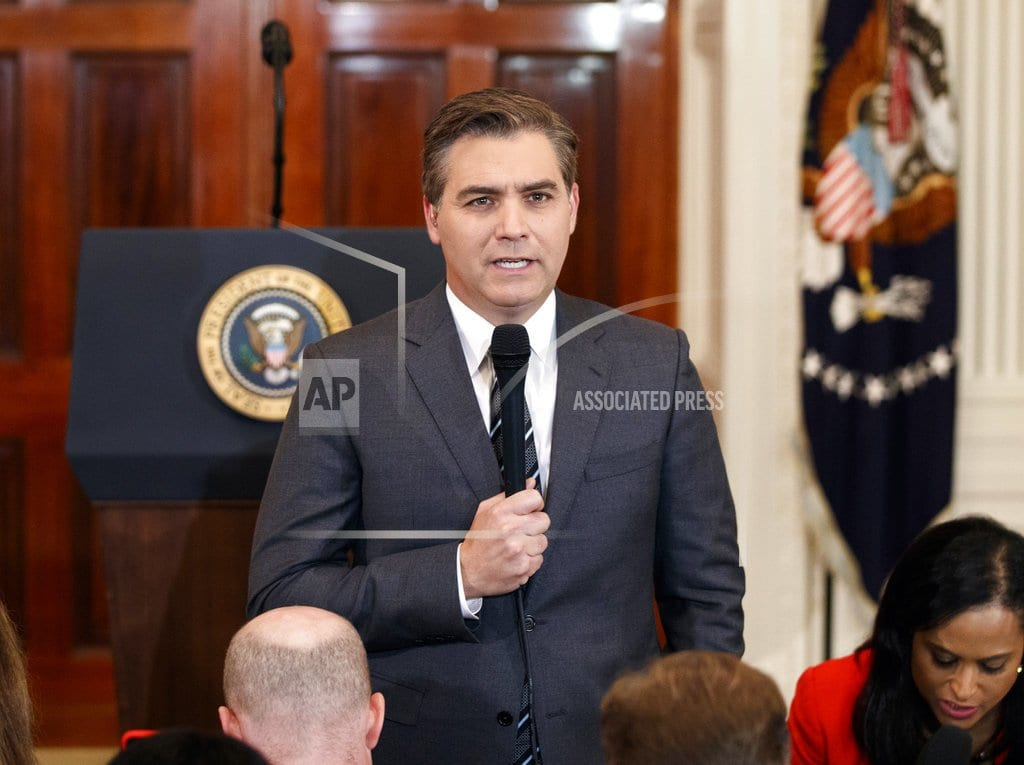 WASHINGTON  | White House claims right to exclude 'grandstanding' Acosta