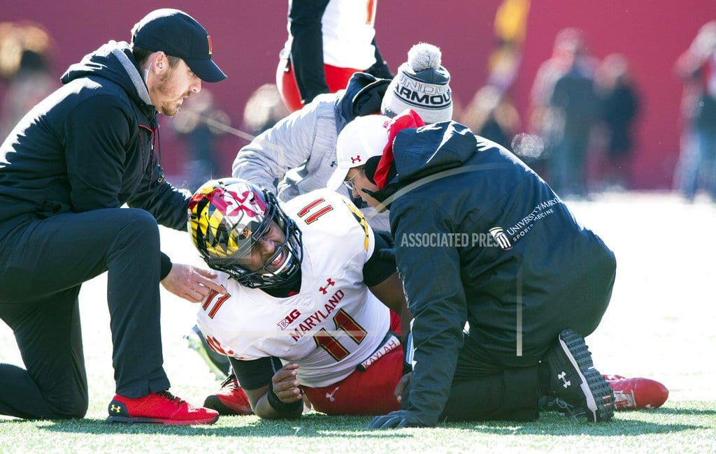 COLLEGE PARK, Md. | More angst at Maryland: QB Hill out for season with torn ACL