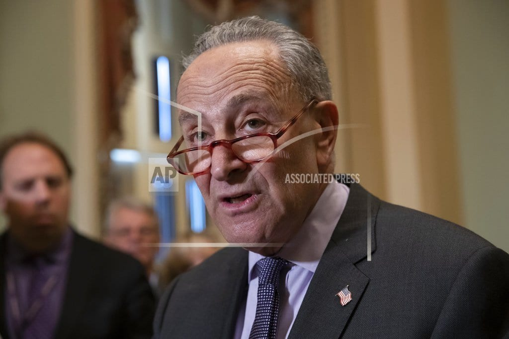 WASHINGTON | The Latest: Schumer wins another term as Democrats' leader
