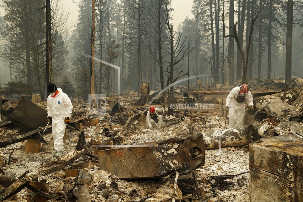 PARADISE, Calif  |  Sheriff: California wildfire's death toll rises to 48